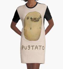 Pugtato Graphic T-Shirt Dress