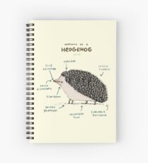 Anatomy of a Hedgehog Spiral Notebook