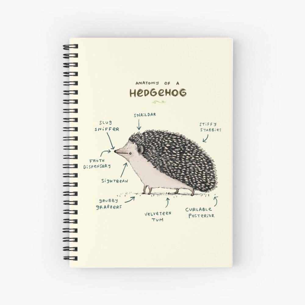 Anatomy of a Hedgehog Spiral Notebook