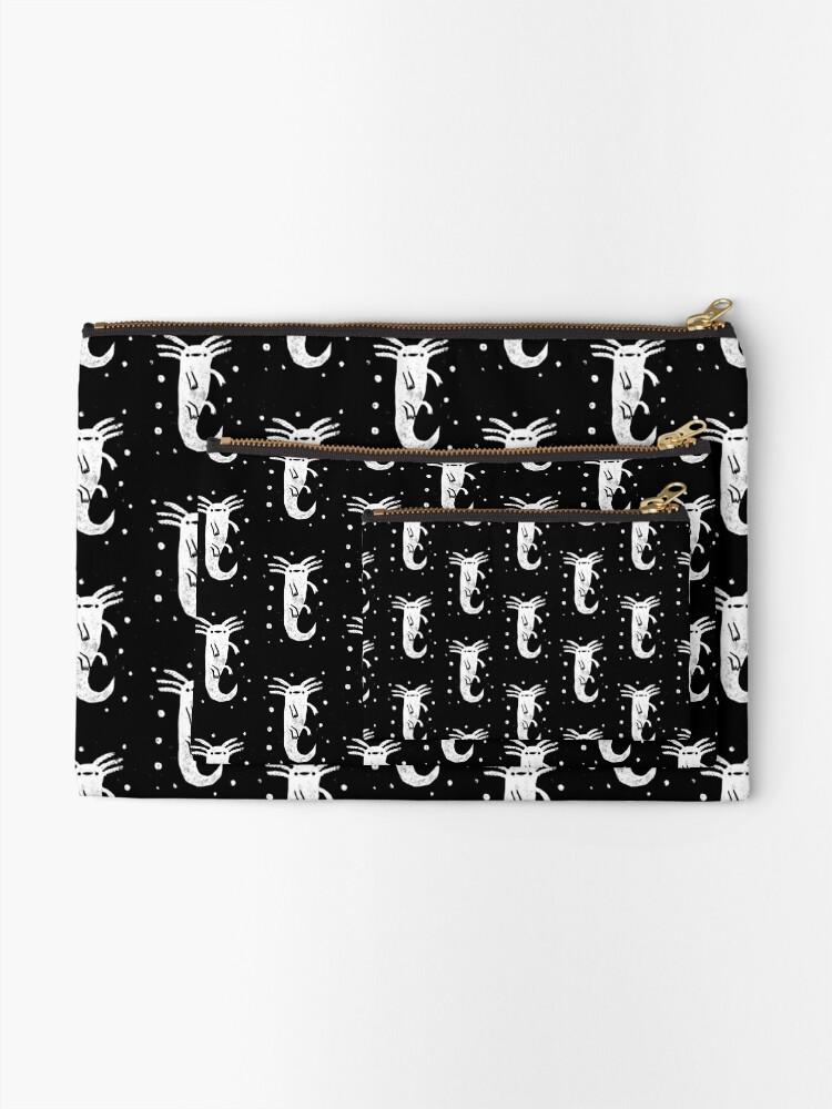 Alternate view of Axolotl Print Zipper Pouch