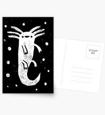 Axolotl Print Greeting Card