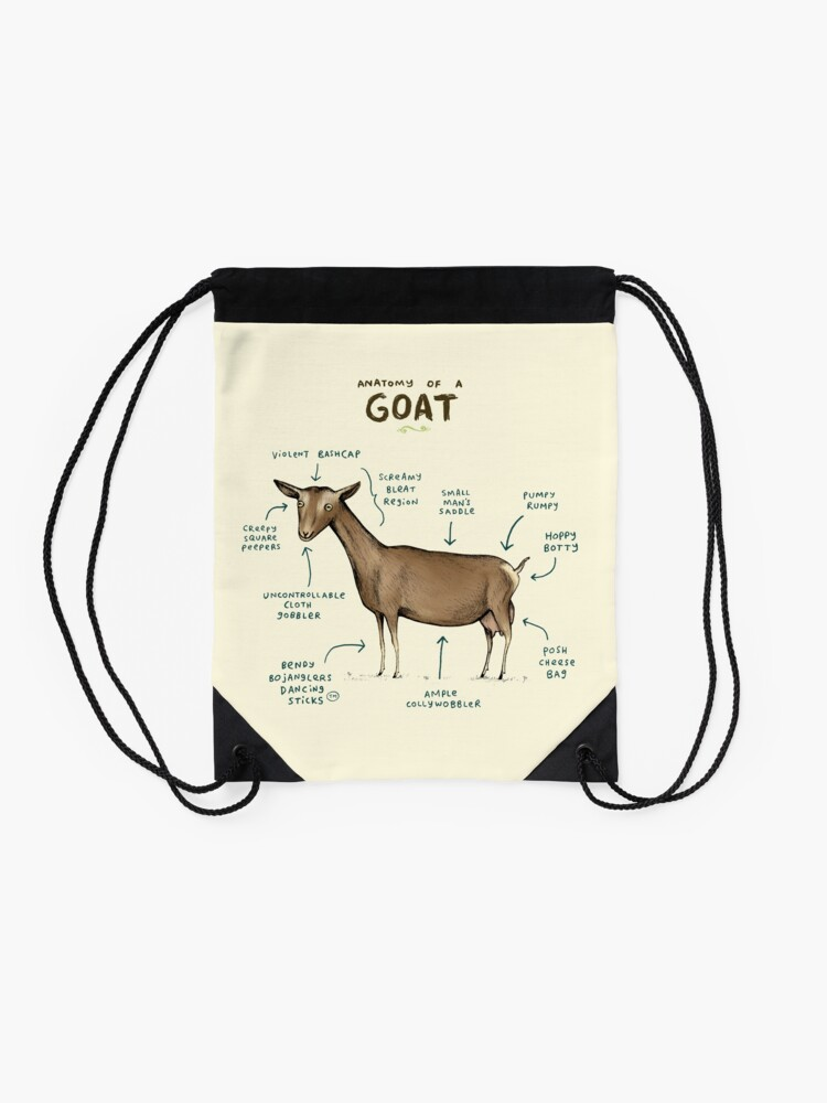 Alternate view of Anatomy of a Goat Drawstring Bag