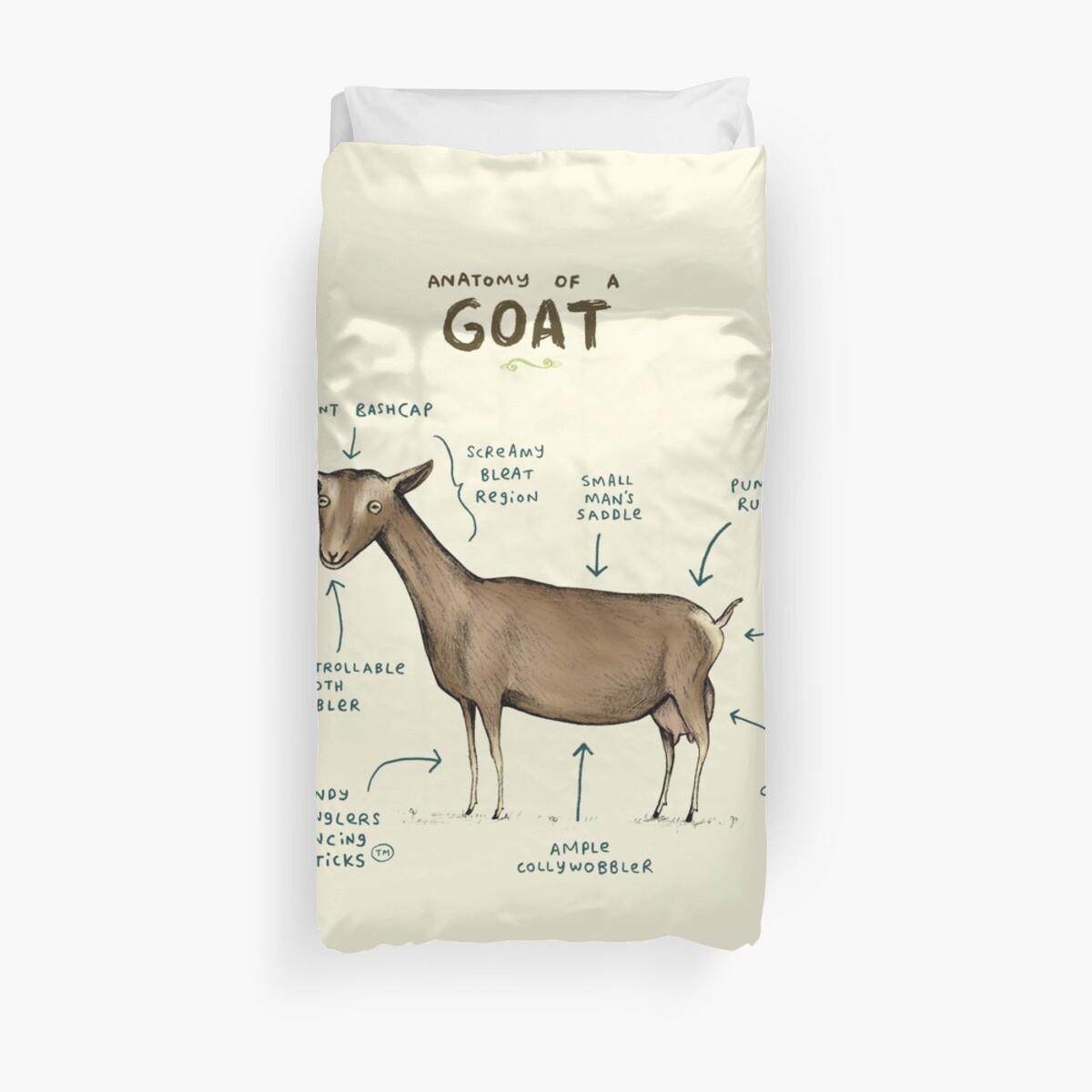 Fundas nórdicas «Anatomía de una cabra» de Sophie Corrigan   Redbubble