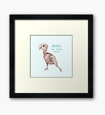 Rhea the Naked Birdie Framed Print