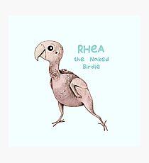 Rhea the Naked Birdie Photographic Print