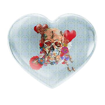 Heart with Skull Flower Power by Diego-t