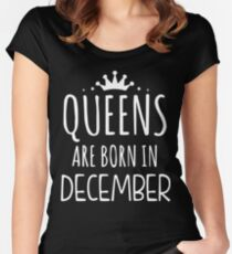 Queens Are Born In December Women's Fitted Scoop T-Shirt