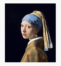 Girl with a Pearl Earring by 17th-century Dutch painter Johannes Vermeer. Photographic Print