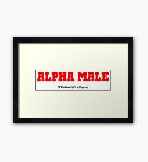 Alpha Male (If that's alright with you) Framed Print