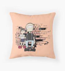 Skinhead Couple Design Throw Pillow