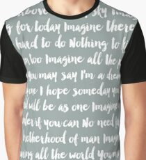 Imagine Lyrics Graphic T-Shirt