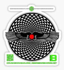 OFFICIAL  BENEFIT MERCH SAHARARA WINGED DISK 11 QR Sticker