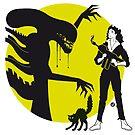 Alien Cartoon Style - Green by Alain Bossuyt