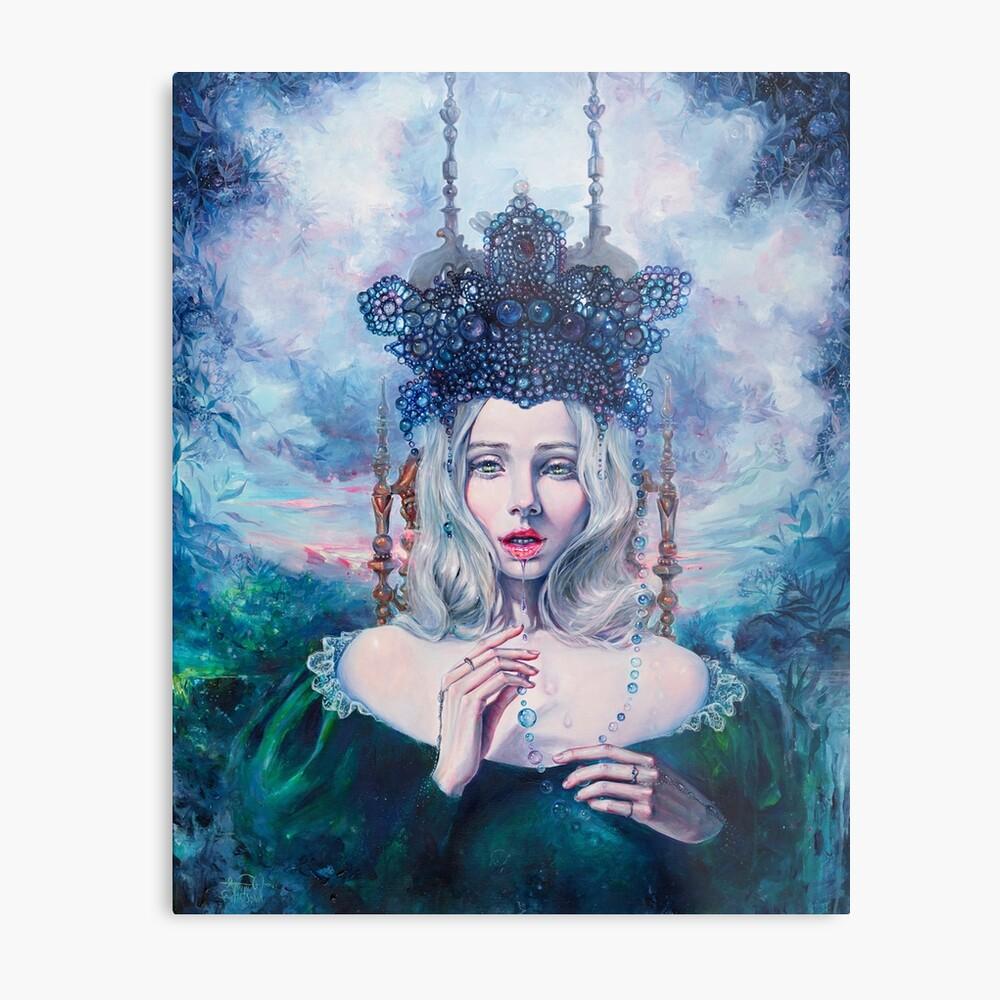 Self-Crowned Metal Print