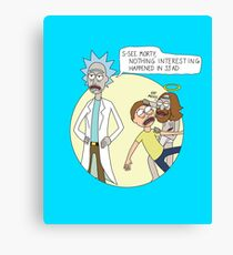 Rick & Morty - Easter Canvas Print