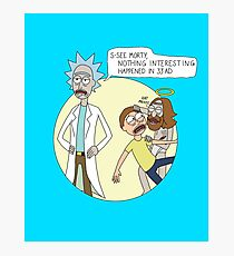 Rick & Morty - Easter Photographic Print