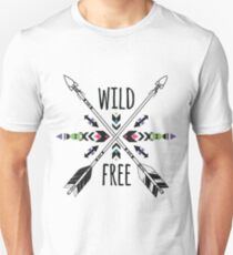 Crossed ethnic arrows and tribal ornament Unisex T-Shirt