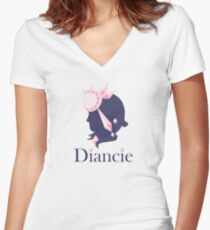 Diancie Jewelers  Women's Fitted V-Neck T-Shirt