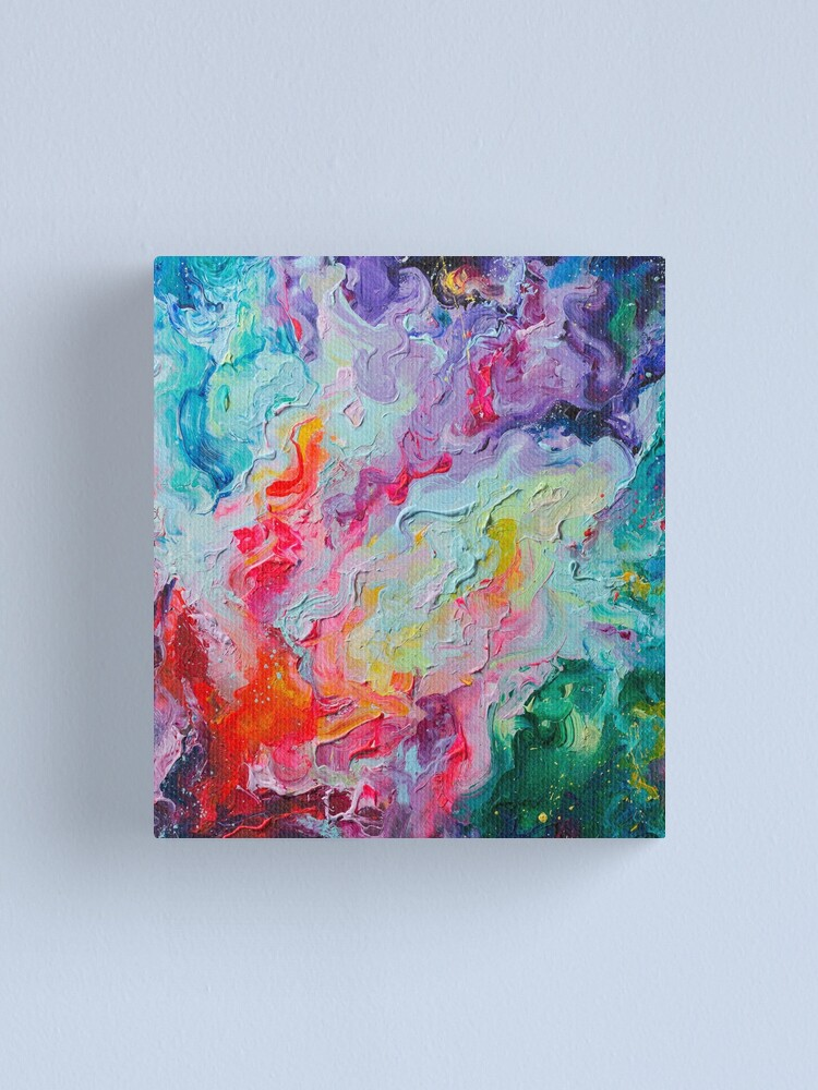 Alternate view of Elements - Spectrum Abstraction Canvas Print