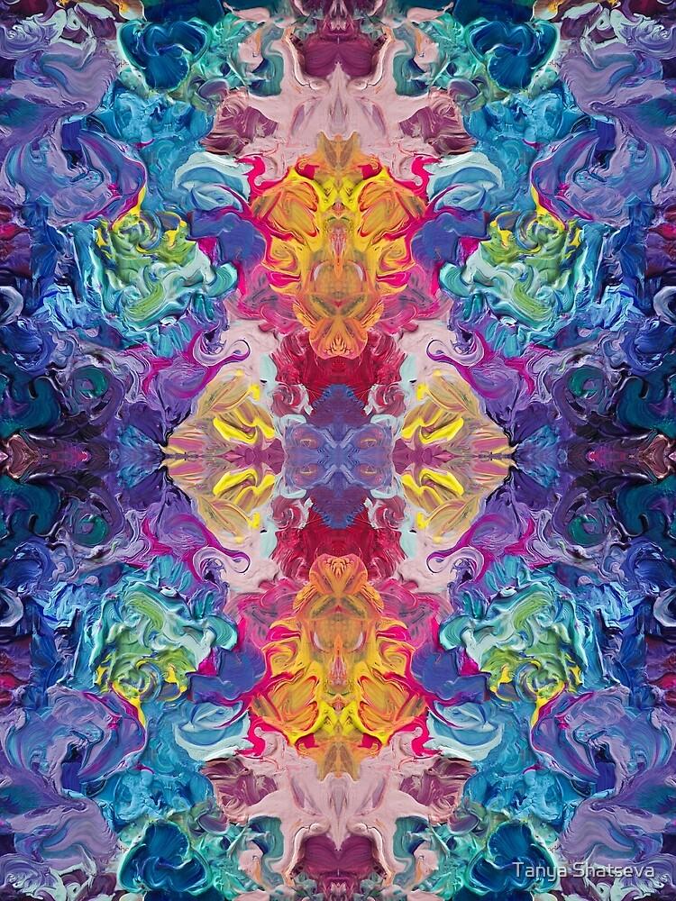 Rainbow Flow Abstraction by tanyashatseva