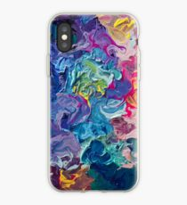 Rainbow Flow Abstraction iPhone Case