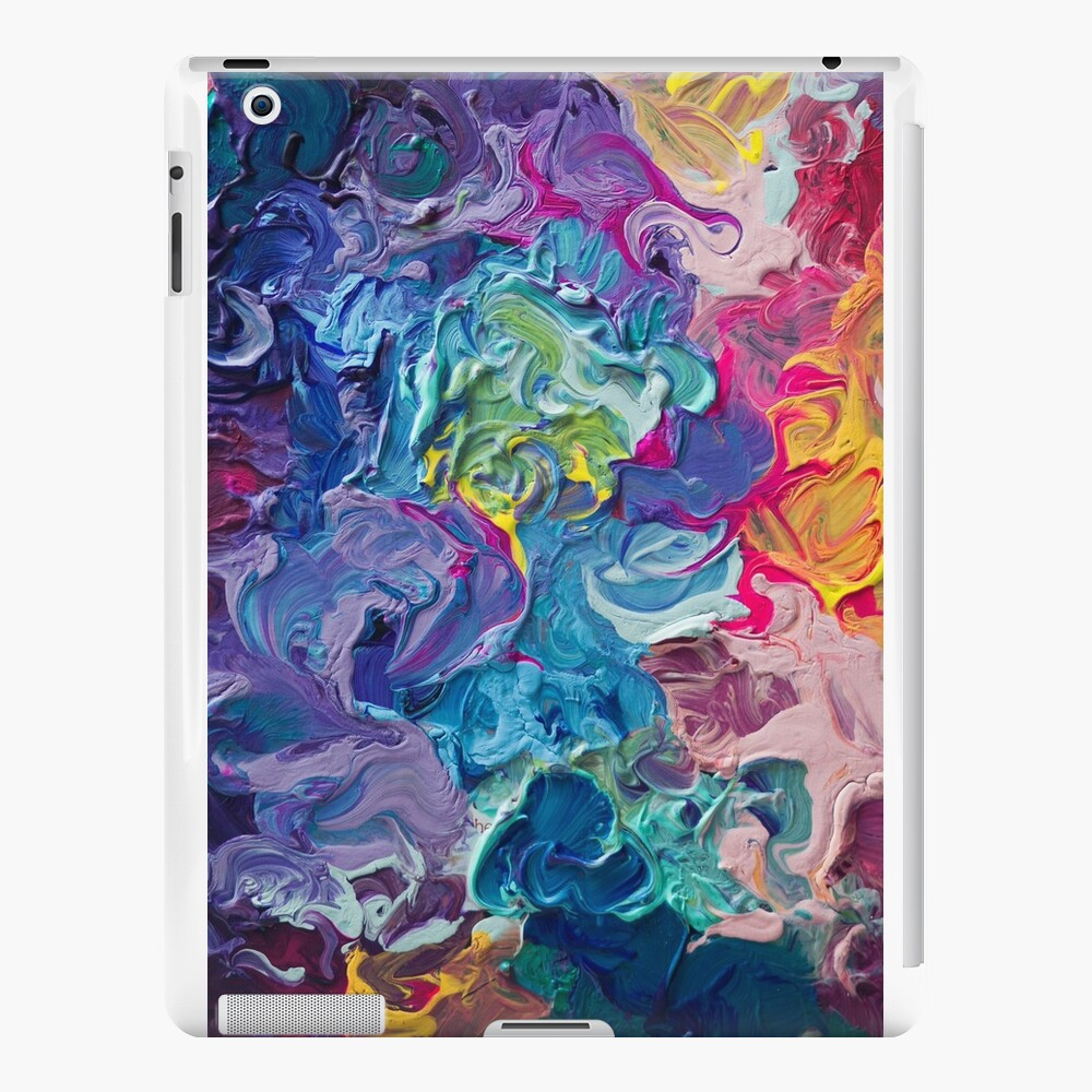 Rainbow Flow Abstraction iPad Cases & Skins