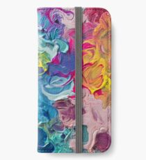 Rainbow Flow Abstraktion iPhone Flip-Case/Hülle/Skin