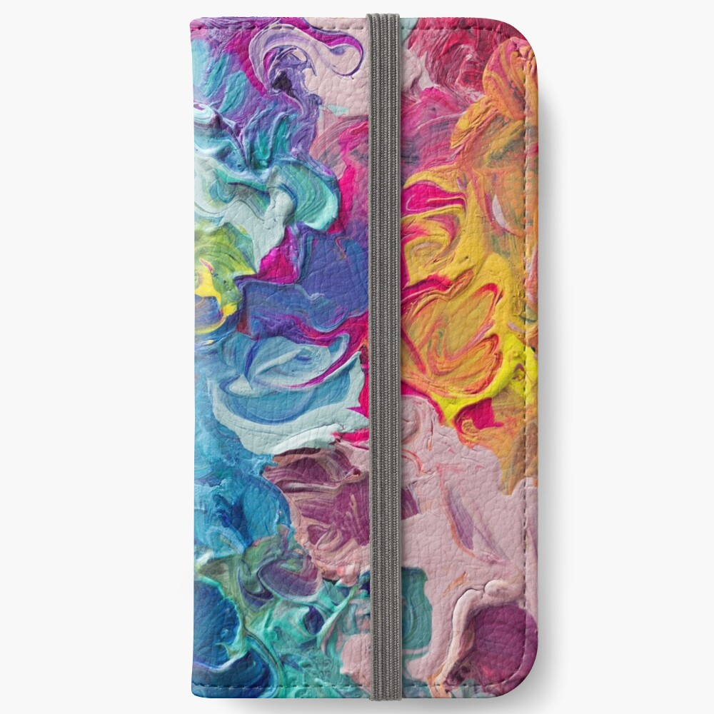 Rainbow Flow Abstraction iPhone Wallet