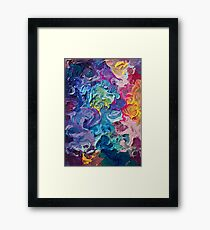 Rainbow Flow Abstraction Framed Print