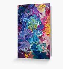 Rainbow Flow Abstraction Greeting Card