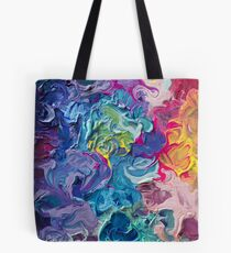 Rainbow Flow Abstraktion Tote Bag