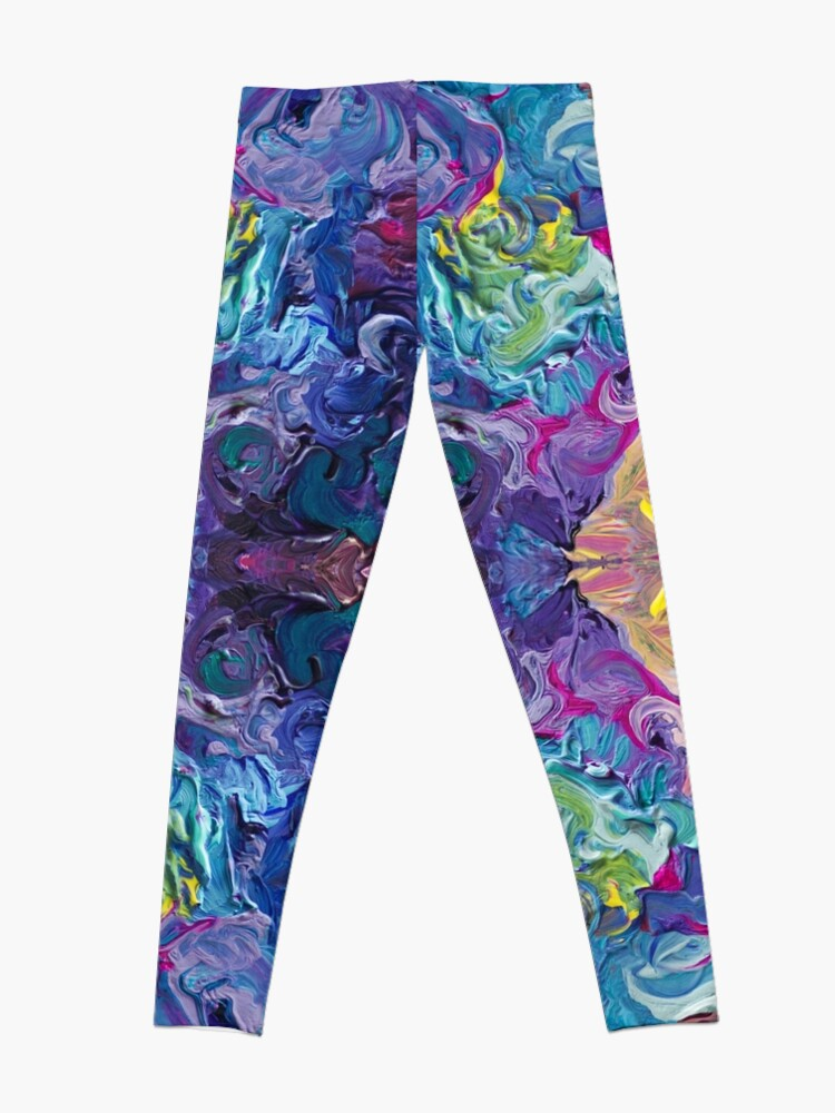 Alternate view of Rainbow Flow Abstraction Leggings