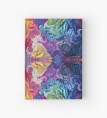 Cuaderno de tapa dura Rainbow Flow Abstraction