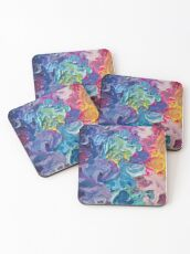Rainbow Flow Abstraction Coasters