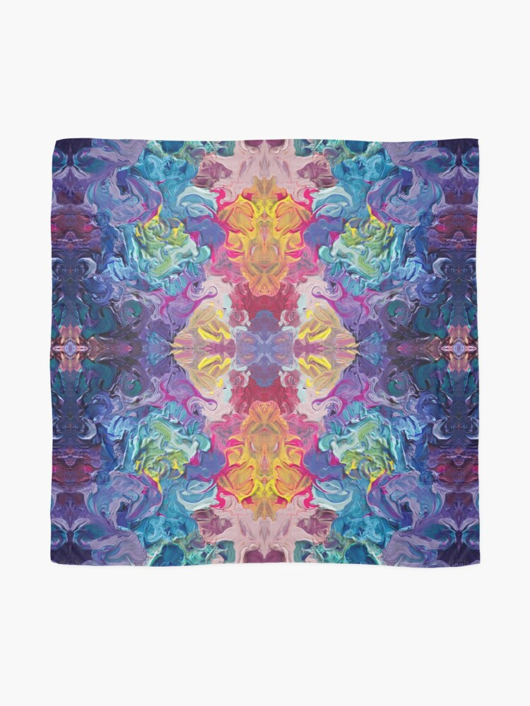 Alternate view of Rainbow Flow Abstraction Scarf