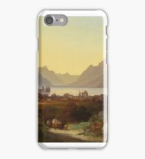 François now an  VIEW FROM LAKE GENEVA VEVEY iPhone Case/Skin