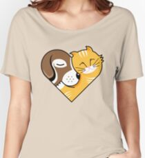 Pet Cuddle Heart Women's Relaxed Fit T-Shirt