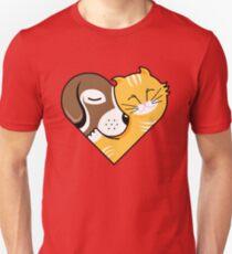 Pet Cuddle Heart Unisex T-Shirt