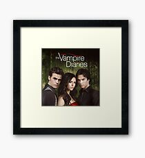 The Vampire Diaries Cover Framed Print