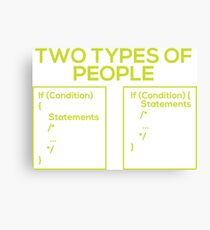 Programming Types of People Canvas Print