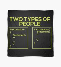 Programming Types of People Scarf