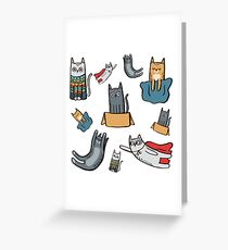 World of Cats Greeting Card