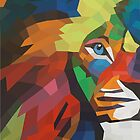 Fierce (Lion Abstract LowPoly) by ShanuStudio