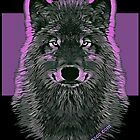 WOLF PINK by fuxart