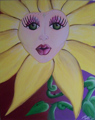 Flower Face by Hollie Leffel