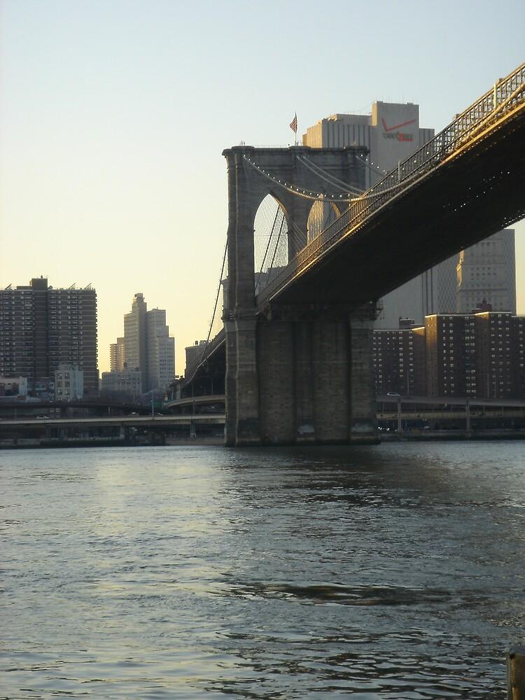 Brooklyn Bridge at dusk by jonord1