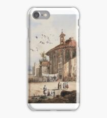 FRÉDÉRIC-FRANÇOIS DANDIRAN; A VIEW OF THE TEMPLE OF HERCULES VICTOR, ROME iPhone Case/Skin