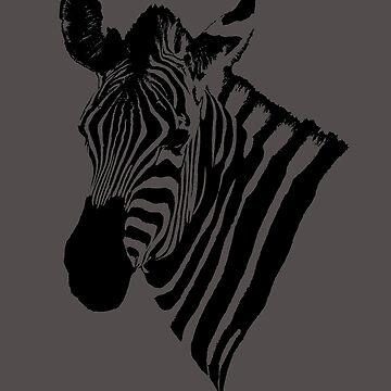 zebra poster by fljac