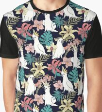 Cockatoo & Tropical Floral Graphic T-Shirt