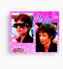 GREASE-RIZZO-COLLAGE #4 Canvas Print